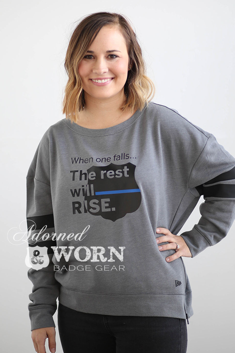The Rest Will Rise | Side Zip Crewneck Sweatshirt
