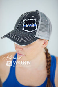 Trucker Hat | Thin Blue Line Custom Badge
