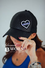 Glitter Ponytail Hat | Custom Heart Patch