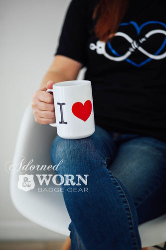 Coffee Mug | I Love with Custom Badge