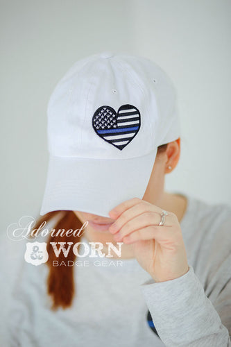 White Hat | TBL Heart with Custom Badge Number
