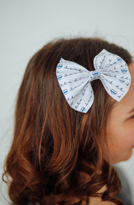 Back the Blue | Hair Bows (white)
