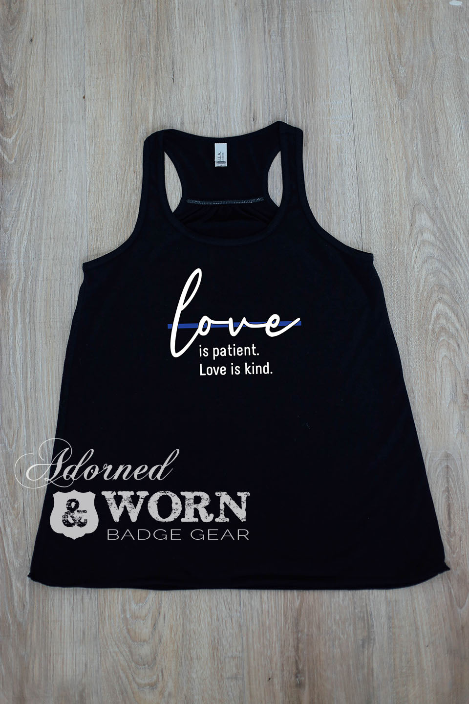 Love is Patient. Love is Kind. | Loose Racerback Tank