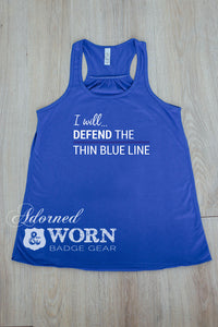I Will Defend | Loose Racerback Tank