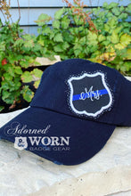 Distressed Hat (Black) | Mrs. Custom Badge