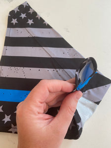 Pet Bandana | Thin Blue Line Flag