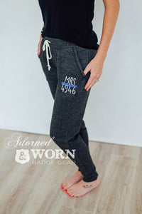 Ladies Jogger Pants | Custom Badge Number