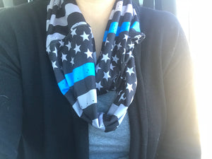 Thin Blue Line Infinity Scarf