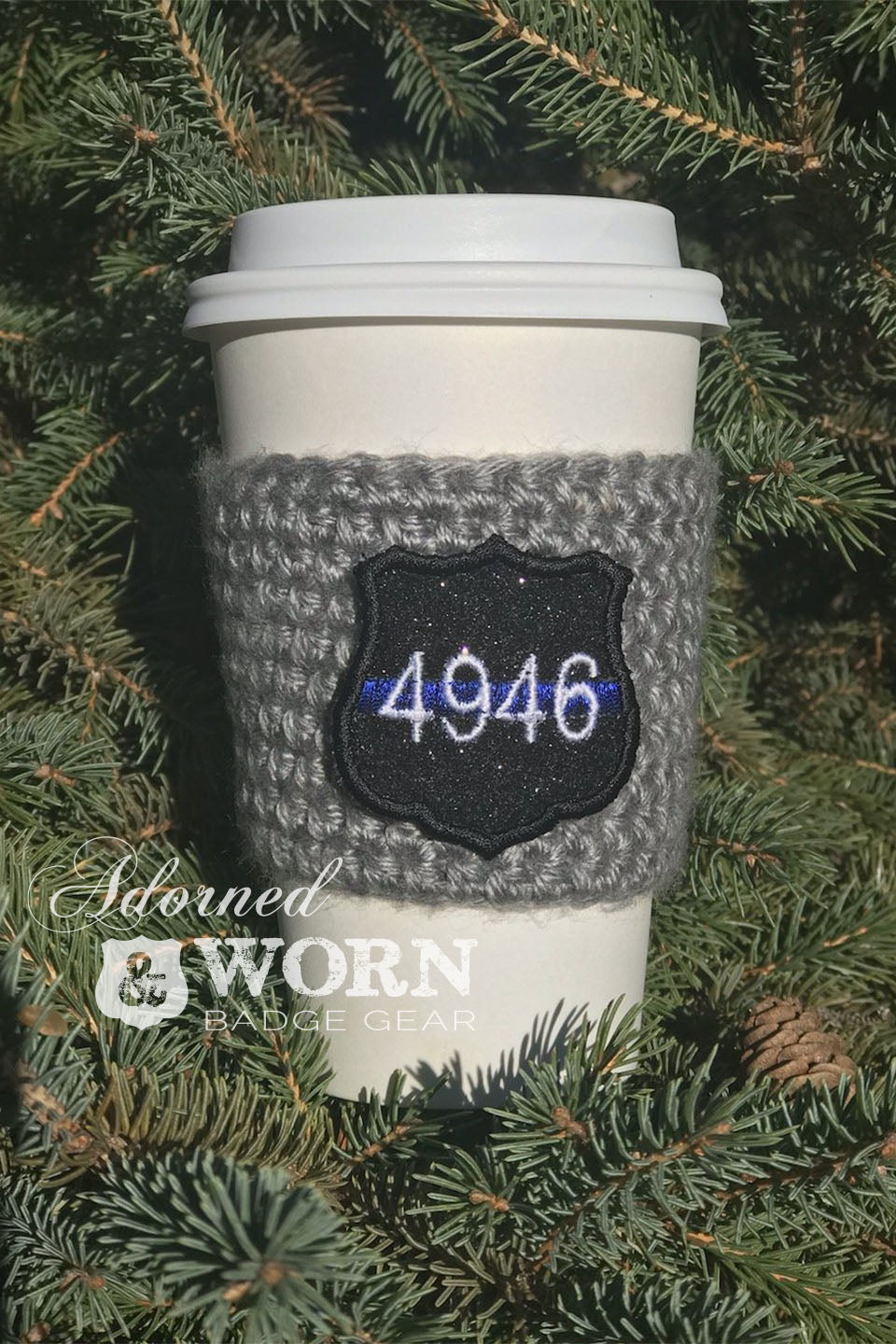 Limited Edition Holiday Coffee Cozy | Black Sparkle