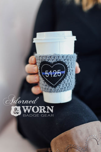 Coffee Cozy | Custom Badge Number