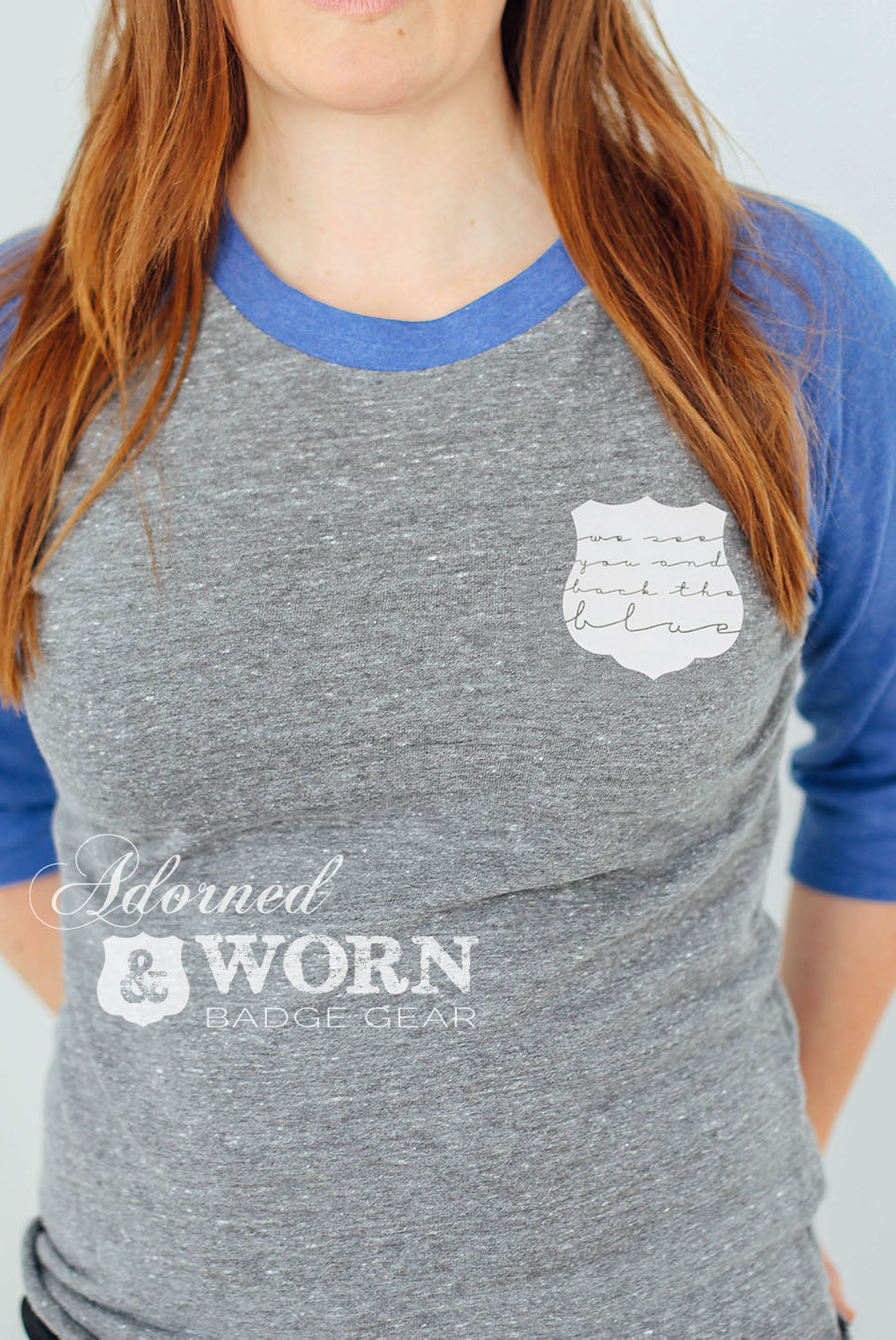 We See You and Back The Blue | Baseball Raglan