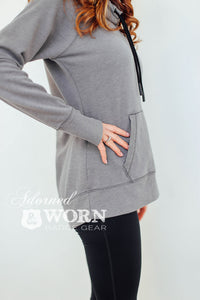 Badge Number | Thumbhole Cowl Neck Hoodie