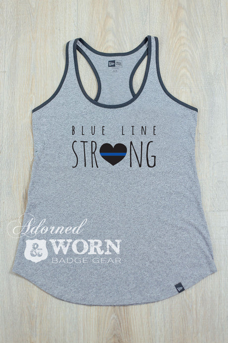 Blue Line Strong | Racerback Tank