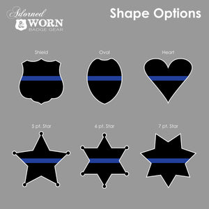 Thin Blue Line Ornament | Badge or Heart Shape