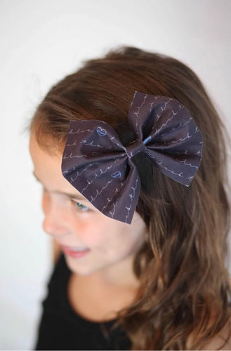 Back the Blue | Hair Bows (black)
