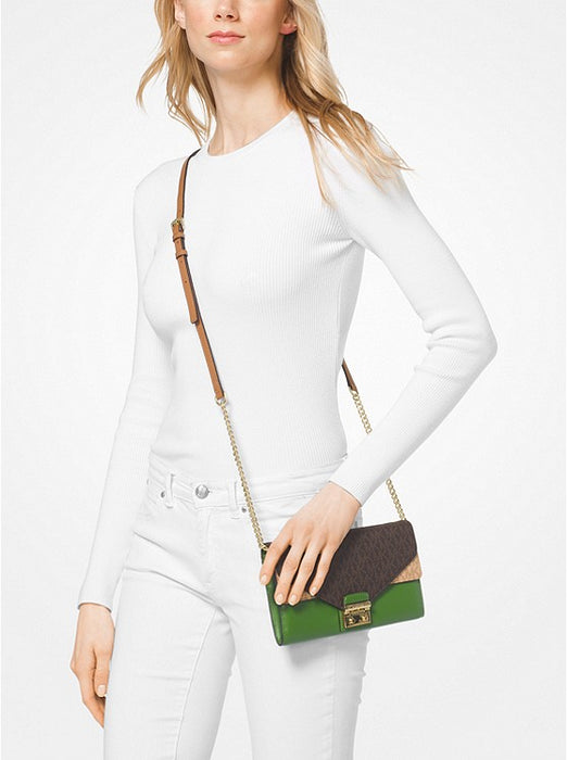 0aa63af1425 MICHAEL MICHAEL KORS Sloan Logo and Leather Chain Wallet — E Yago