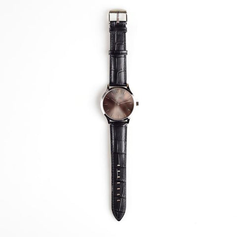 The Adesso Classic Series #1 watch with our black croce band and silver timepiece