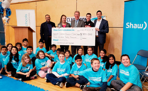 Classroom Champions receiving $720,000 in funding from Shaw Communications