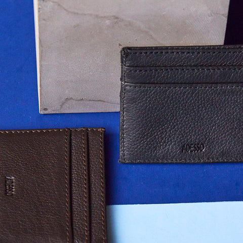 Adesso Man Leather Cardholders available in-store and online