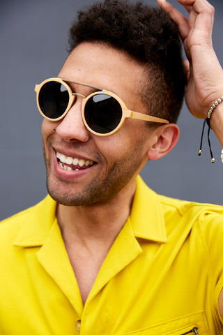 Greg Fraser wearing our Adesso Man sunglasses for our Spring Campaign