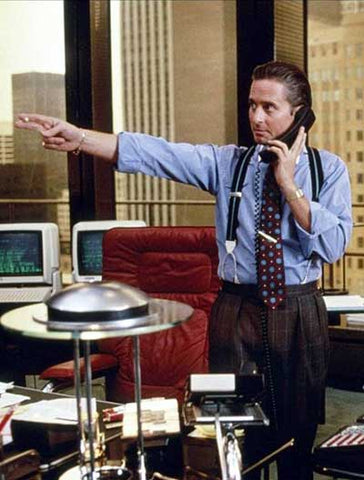 Michael Douglas as Gordon Gekko in Wall Street