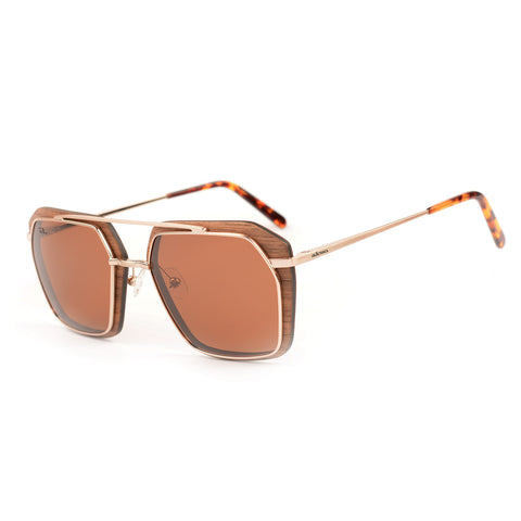 Sunglasses with wooden frames.