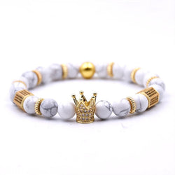 White Turquoise Crown Bracelet