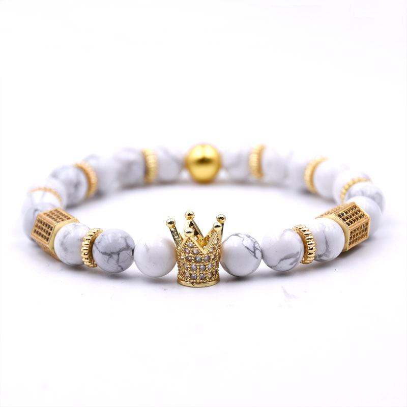 White Turquoise Crown Bracelet Bracelets Adesso Accessories