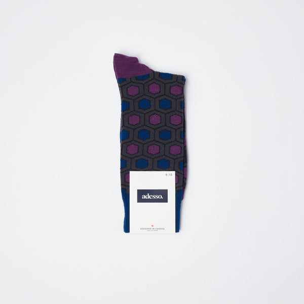 Purple Hexagon Socks