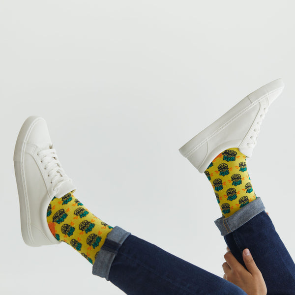 Pineapple with Sunglasses Socks