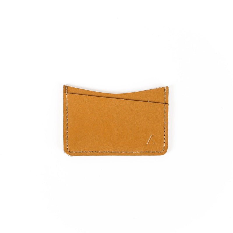 Tan Curved Cardholder Leather Goods Adesso Accessories
