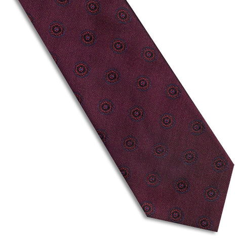 Burgundy Medallion Necktie