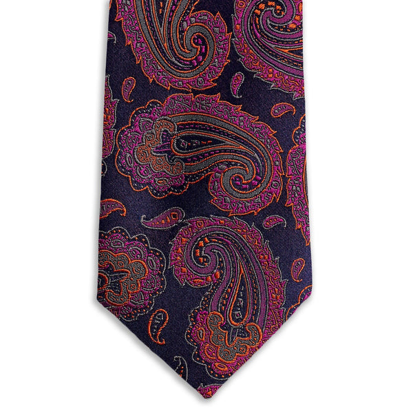 Purple Fusion Paisley Necktie Neckties Sirocco Fan Accessories