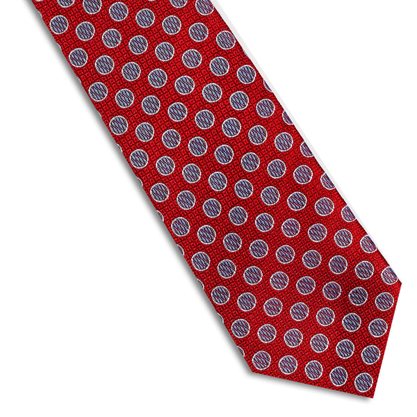 Red & Purple Polka Dot Necktie