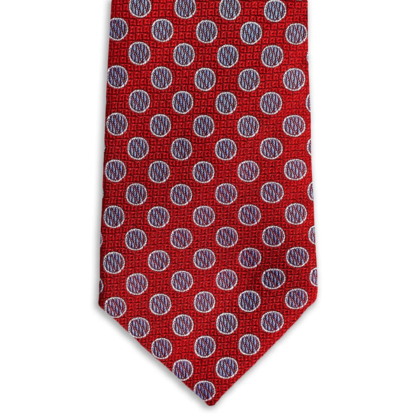 Red & Purple Polka Dot Necktie Neckties Sirocco Fan Accessories