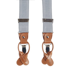 Light Blue - Tan Suspenders
