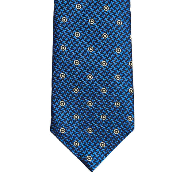 Blue Yellow Polka Necktie