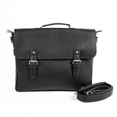 Nico Double Strap Leather Messenger