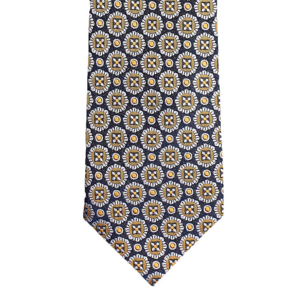 Navy Yellow Medallion