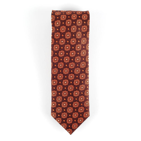 Orange and Brown Italian Tie Neckties Adesso Accessories