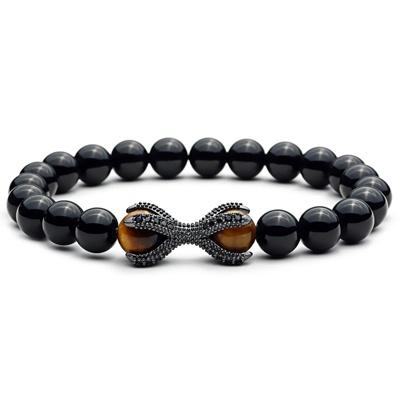 Gunmetal Grey Tigers Eye Octopus Bracelet