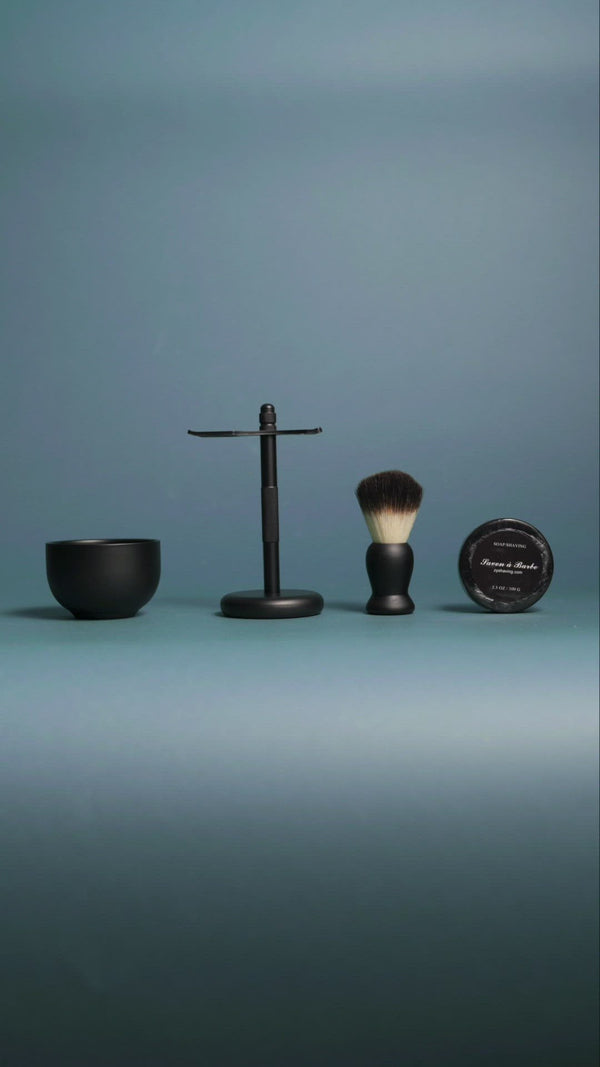 Matte Black Safety Razor Set