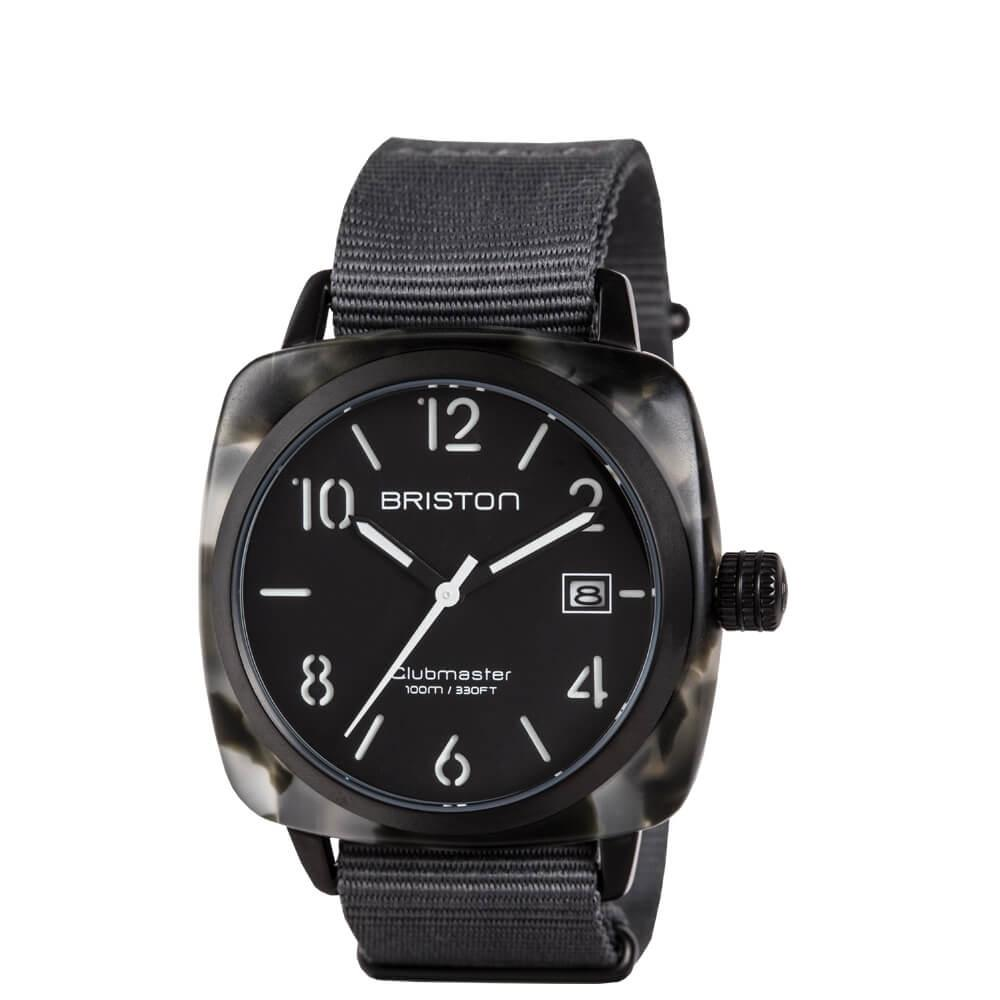 Clubmaster Classic Matt Acetate Matte Grey Tortoise Watches Briston