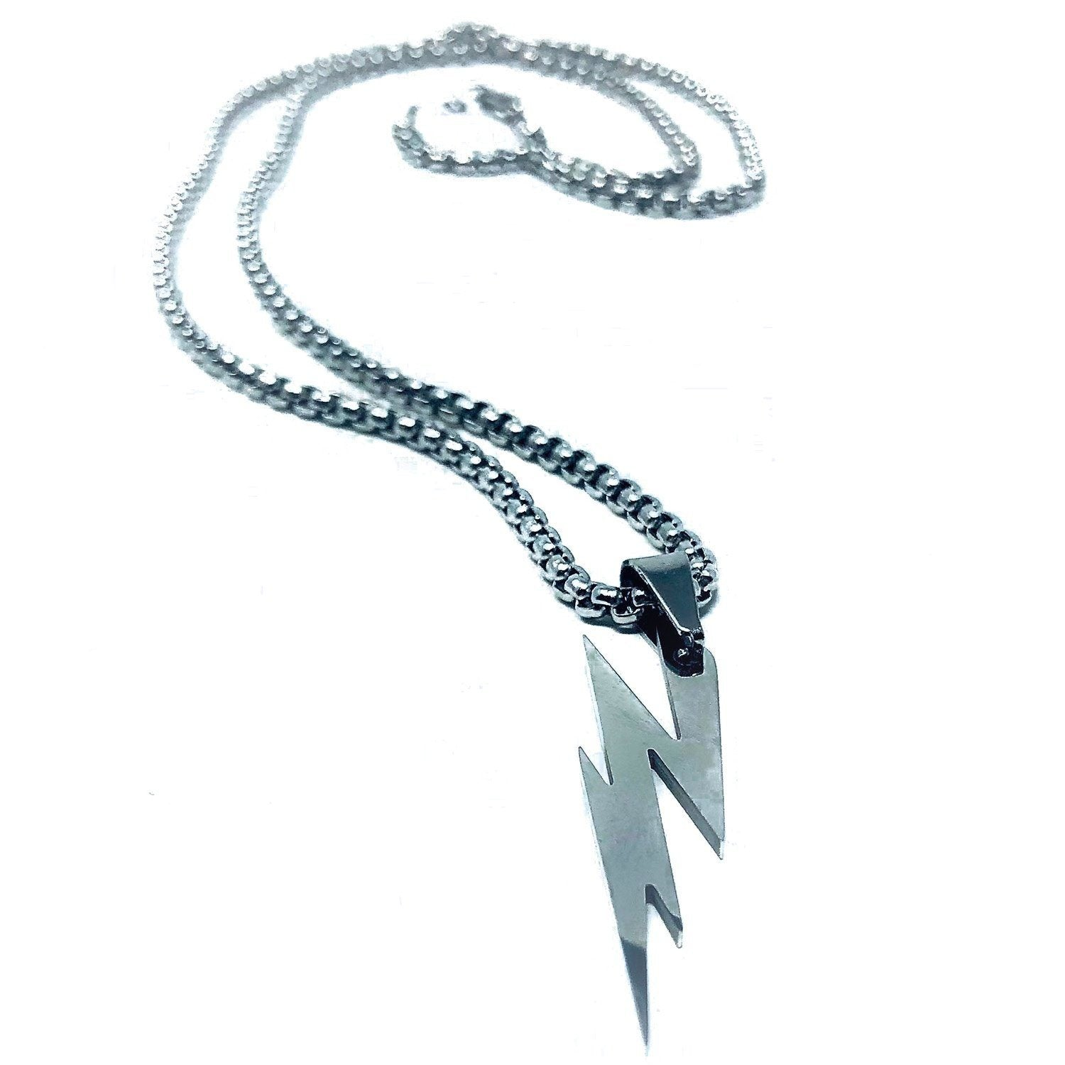 Silver Lightning Necklace Necklaces Dapper and Bloke