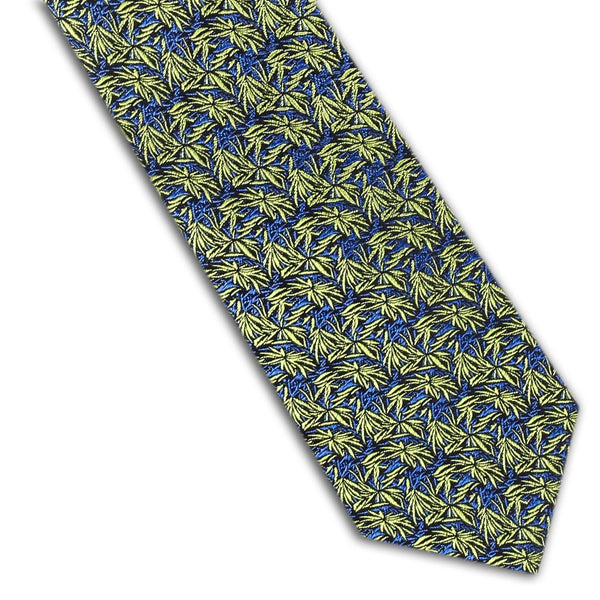 Yellow and Blue Floral Tie
