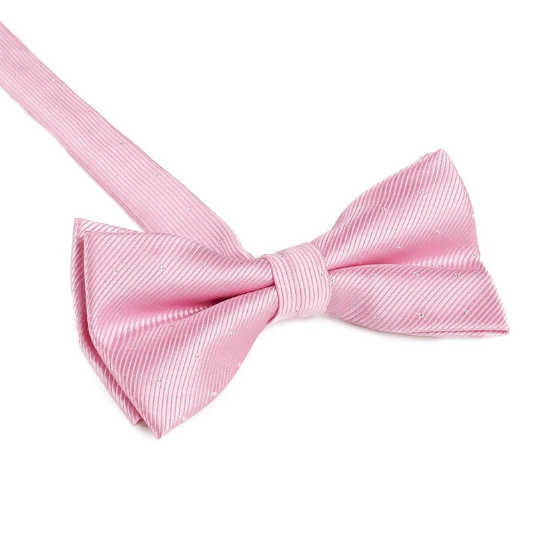 Pink & White Polka Dot Bow Tie
