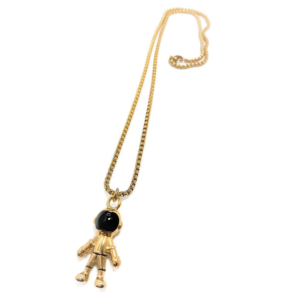 Gold Astronaut Necklace Necklaces Dapper and Bloke