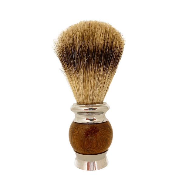 Adesso Wood + Metal Handle Badger Hair Brush Grooming Supplies Adesso Accessories