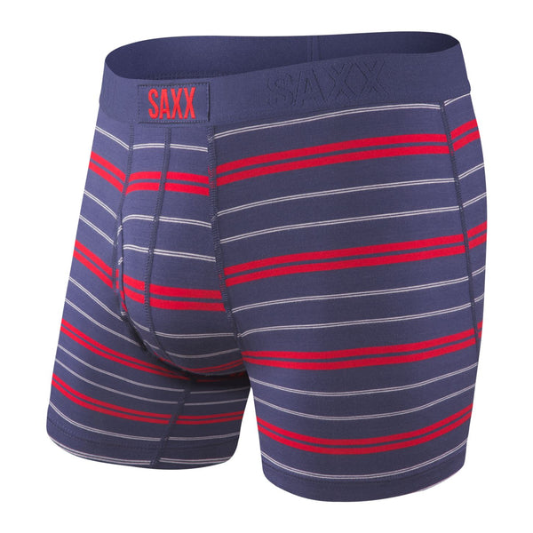 Saxx ULTRA Boxer Briefs - NAVY SUMMIT STRIPE - NSS Underwear Saxx