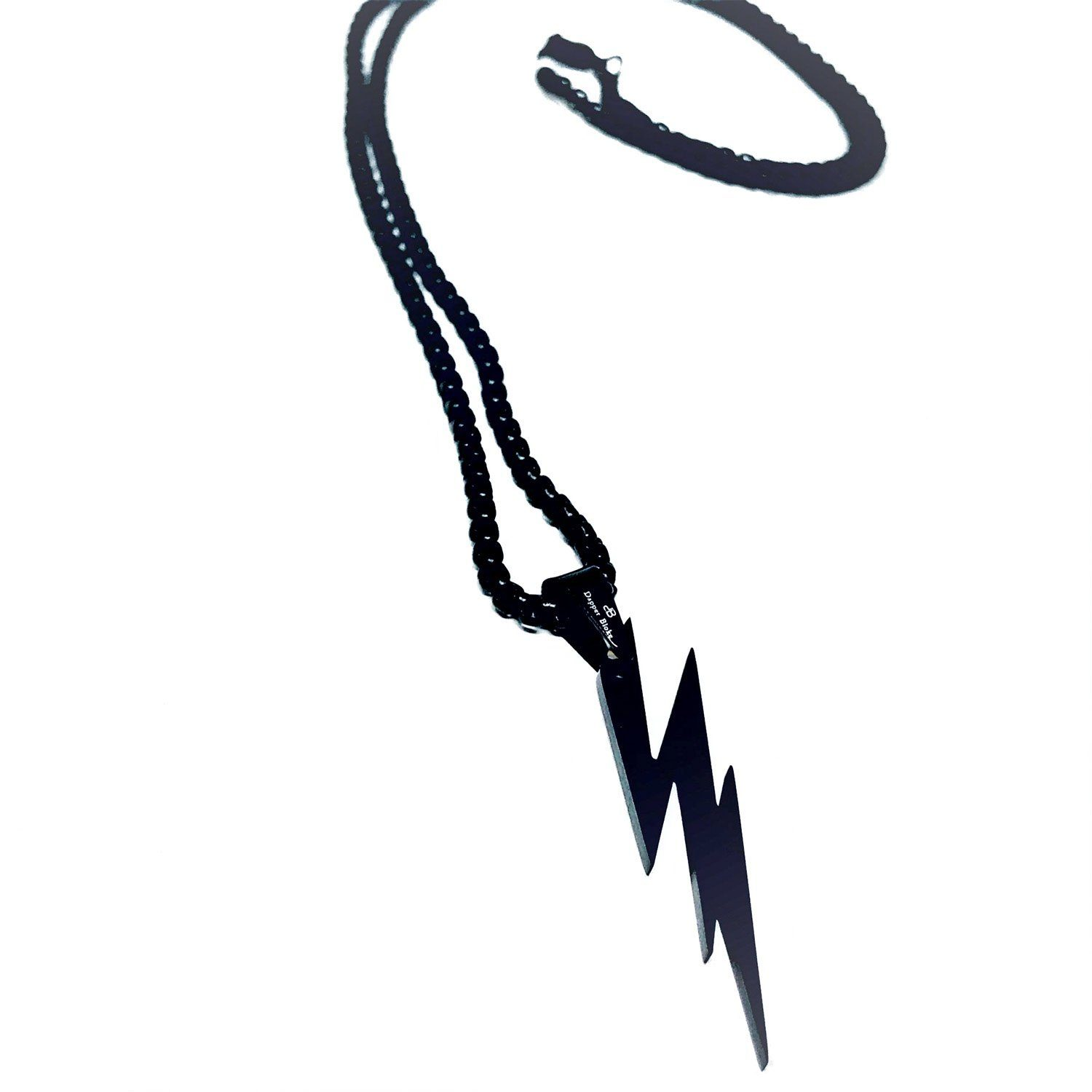 Black Lightning Necklace Necklaces Dapper and Bloke